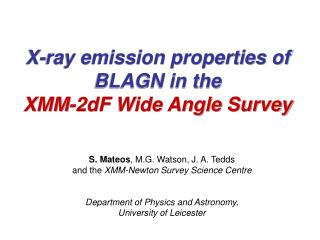 X-ray emission properties of BLAGN in the  XMM-2dF Wide Angle Survey