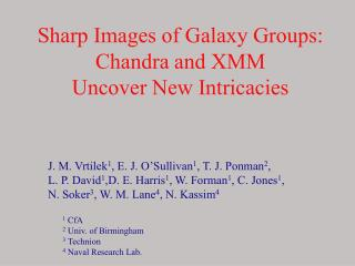 Sharp Images of Galaxy Groups: Chandra and XMM  Uncover New Intricacies