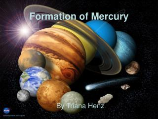 Formation of Mercury