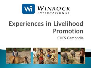 Experiences in Livelihood Promotion
