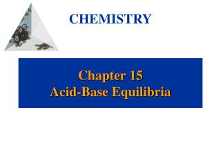 Chapter 15 Acid-Base  Equilibria