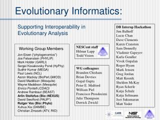 Evolutionary Informatics: