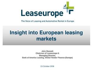 Insight into European leasing markets