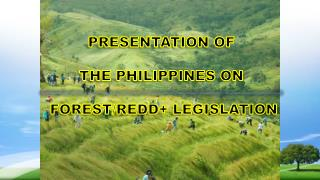 PRESENTATION OF  THE PHILIPPINES ON  FOREST/REDD+ LEGISLATION