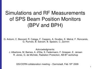 Simulations and RF Measurements  of SPS Beam Position Monitors (BPV and BPH)