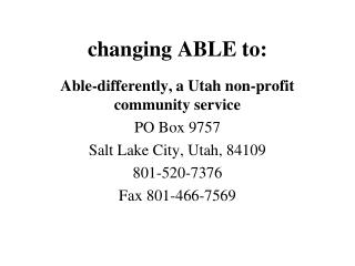 changing ABLE to: