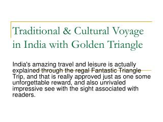 An Unforgettable Journey in India via Golden Triangle