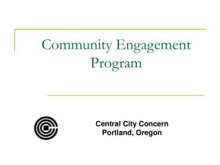 Community Engagement Program