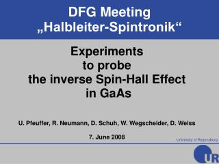 Experiments to probe the inverse Spin-Hall Effect  in GaAs