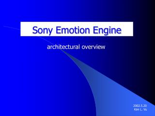 Sony Emotion Engine