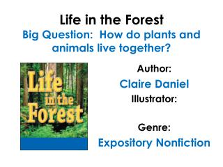 Life in the Forest Big Question:  How do plants and animals live together