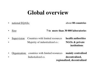 Global overview