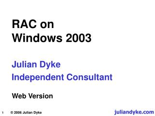 RAC on  Windows 2003