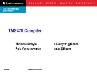 TMS470 Compiler