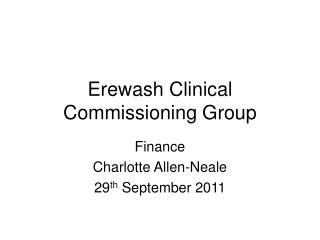 Erewash Clinical Commissioning Group