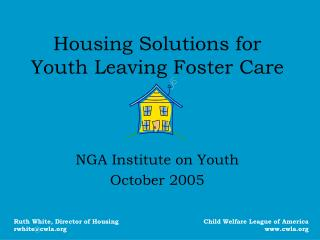Housing Solutions for Youth Leaving Foster Care