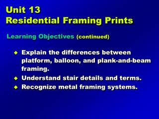 Unit 13 Residential Framing Prints
