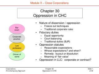 Chapter 30 Oppression in CHC