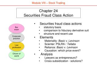 Chapter 24 Securities Fraud Class Action