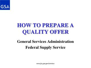 HOW TO PREPARE A QUALITY OFFER