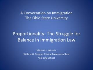 A Conversation on Immigration The Ohio State University