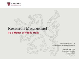 Research Misconduct