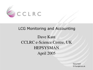 LCG Monitoring and Accounting