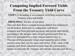 Computing Implied Forward Yields From the Treasury Yield Curve