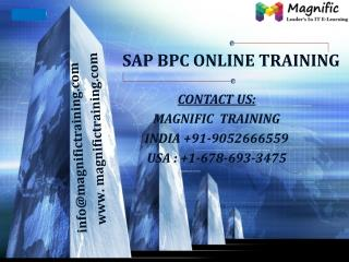 sap bpc online training USA,UK and Canada