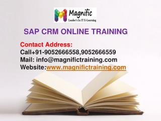 sap crm online training