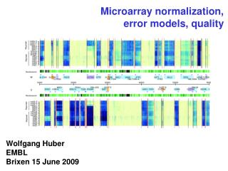 Microarray normalization, error models, quality
