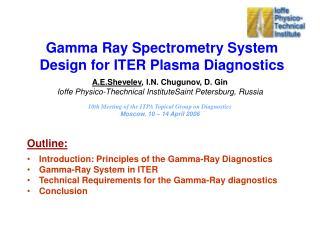 Gamma Ray Spectrometry System Design for ITER Plasma Diagnostics