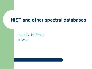 NIST and other spectral databases