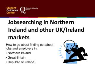 Jobsearching in Northern Ireland and other UK/Ireland markets