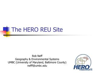 The HERO REU Site