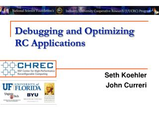 Debugging and Optimizing RC Applications