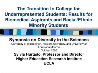 Symposia on Diversity in the Sciences