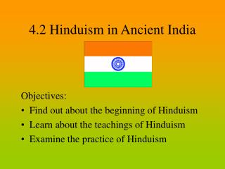 4.2 Hinduism in Ancient India