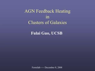 AGN Feedback Heating  in Clusters of Galaxies