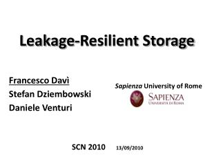 Leakage-Resilient Storage