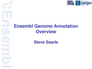 Ensembl Genome Annotation Overview