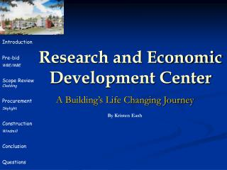 Research and Economic  Development Center