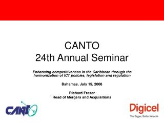 CANTO  24th Annual Seminar