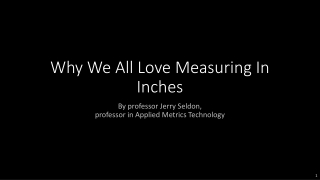 Measuring in Inches