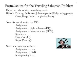 Formulations for the Traveling Salesman Problem