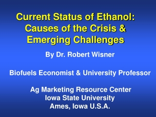 The Future of Cellulose-Based  Ethanol   Challenges and Impacts