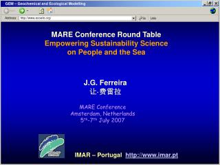 MARE Conference Round Table Empowering Sustainability Science on People and the Sea