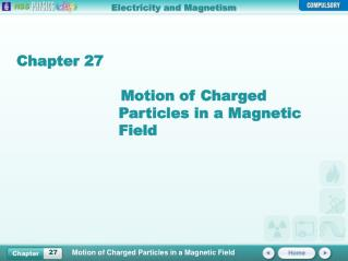 Chapter 27 Motion of Charged Particles in a Magnetic Field