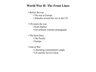 World War II: The Front Lines