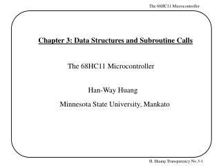 Chapter 3: Data Structures and Subroutine Calls